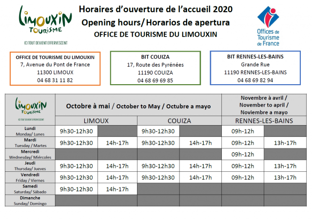 Horaires 2020 Page 1